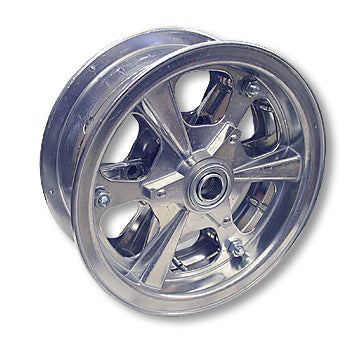 "Load image into Gallery viewer, Go Kart, Mini Bike Wheel, 8 in. Spinner Aluminum, 3 in. wide with 1/2"" Precision Ball Bearings"