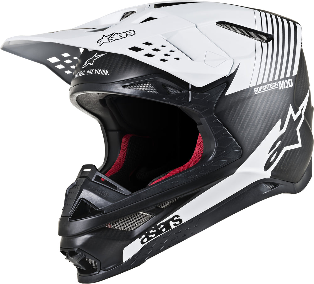 Load image into Gallery viewer, S.TECH M10 DYNO HELMET MATTE BLACK/WHITE XL