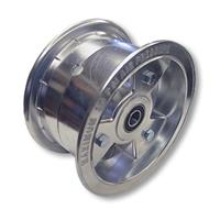 "Go Kart, Mini Bike Front Wheel, 6 in. x 4 in. Wide Tri-Star, with 5/8"" ID Standard Ball Bearings"