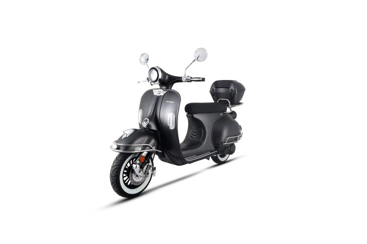 VES 150cc Moped Scooter, ABS Brakes, Alarm Remote Start (10) Black