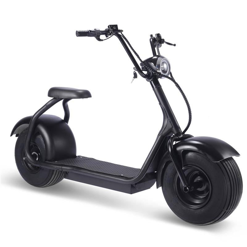 Moto Tec Fat Tire 2,000W Lithium Electric Scooter, (No License Required)