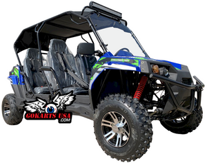 TrailMaster Challenger 300X Fuel Injected 4-Seater UTV Side-by-Side