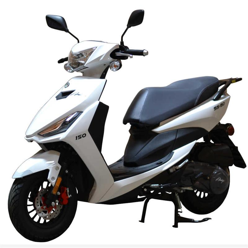 SS150 150cc Moped Scooter, ABS Brakes, Alarm Remote Start (10)
