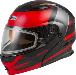 MD-01S MODULAR SNOW HELMET DESCENDANT MATTE BLACK/RED MD