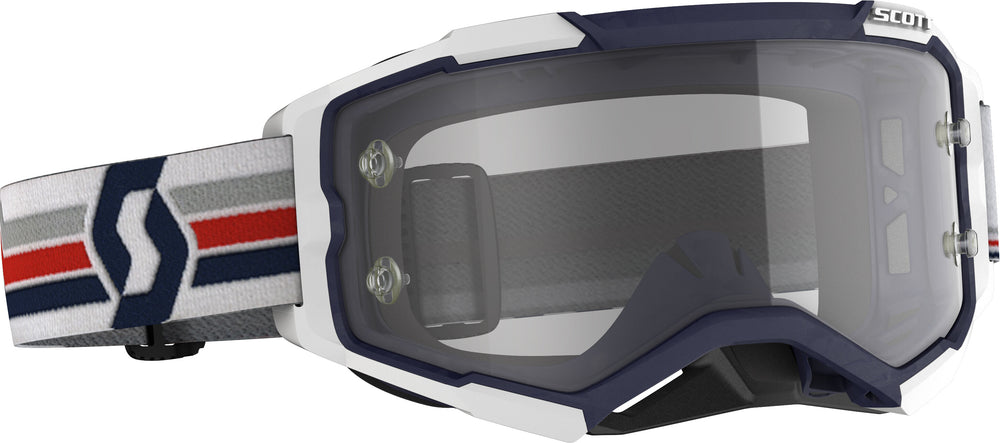 FURY GOGGLE BLUE/WHITE CLEAR WORKS LENS