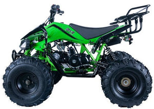 "Apollo Jet9 125 ATV, Automatic with Reverse 8"" Wheels, Rear Rack, Front Bumper"