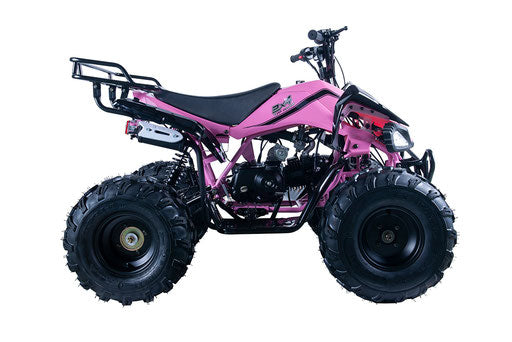 "Jet9 125 ATV, Automatic with Reverse 8"" Wheels, Rear Rack, Front Bumper"
