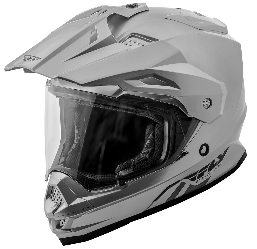 Load image into Gallery viewer, TREKKER SOLID HELMET SILVER MD