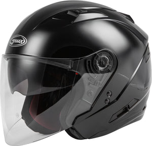 OF-77 OPEN-FACE HELMET BLACK SM
