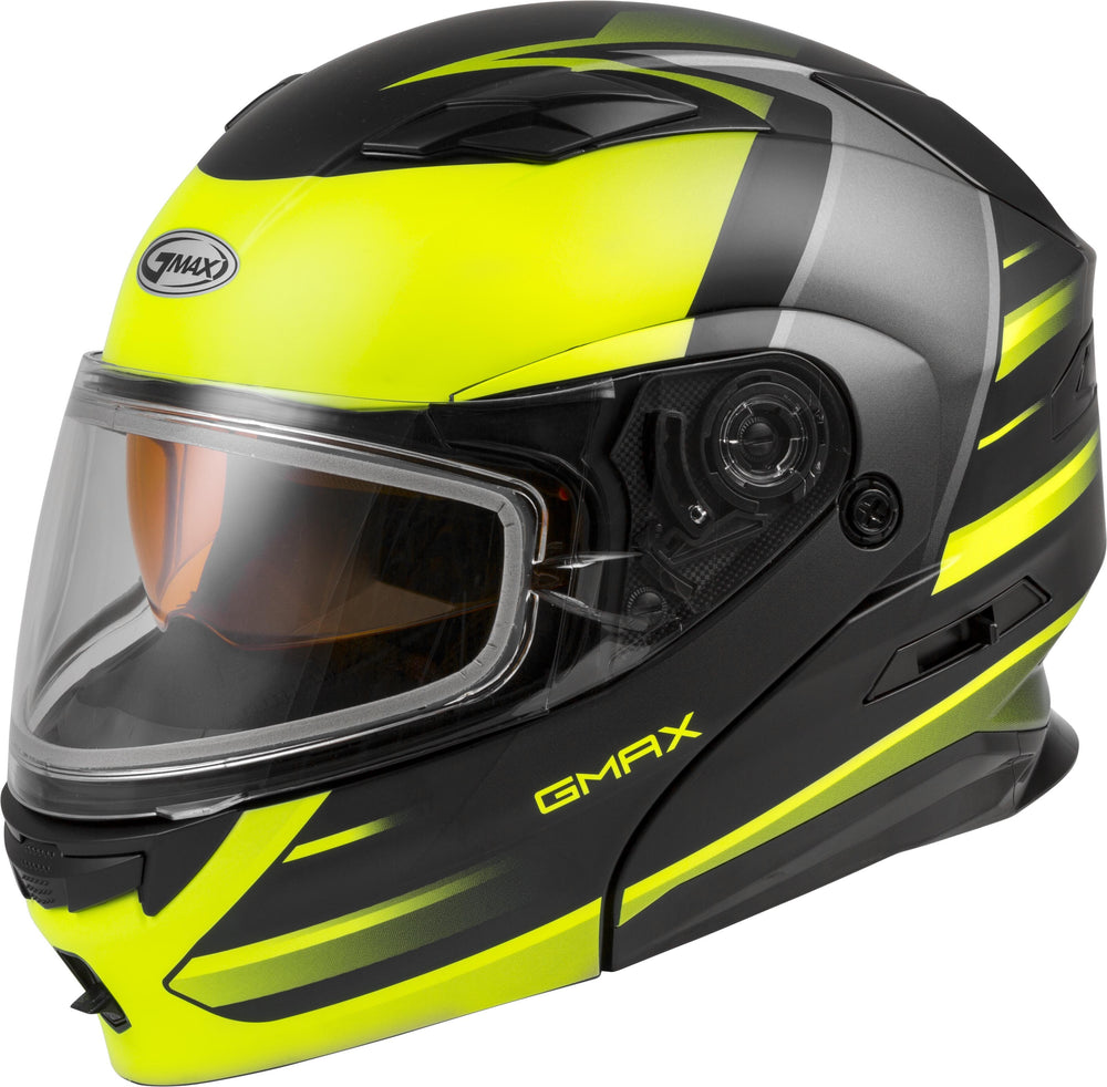Load image into Gallery viewer, MD-01S MODULAR SNOW HELMET DESCENDANT MATTE BLK/HI-VIS MD
