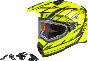 Load image into Gallery viewer, AT-21S EPIC SNOW HELMET W/ELEC SHIELD MATTE HI-VIS/BLACK XS