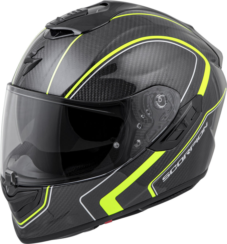 Load image into Gallery viewer, EXO-ST1400 CARBON FULL-FACE HELMET ANTRIM HI-VIS LG