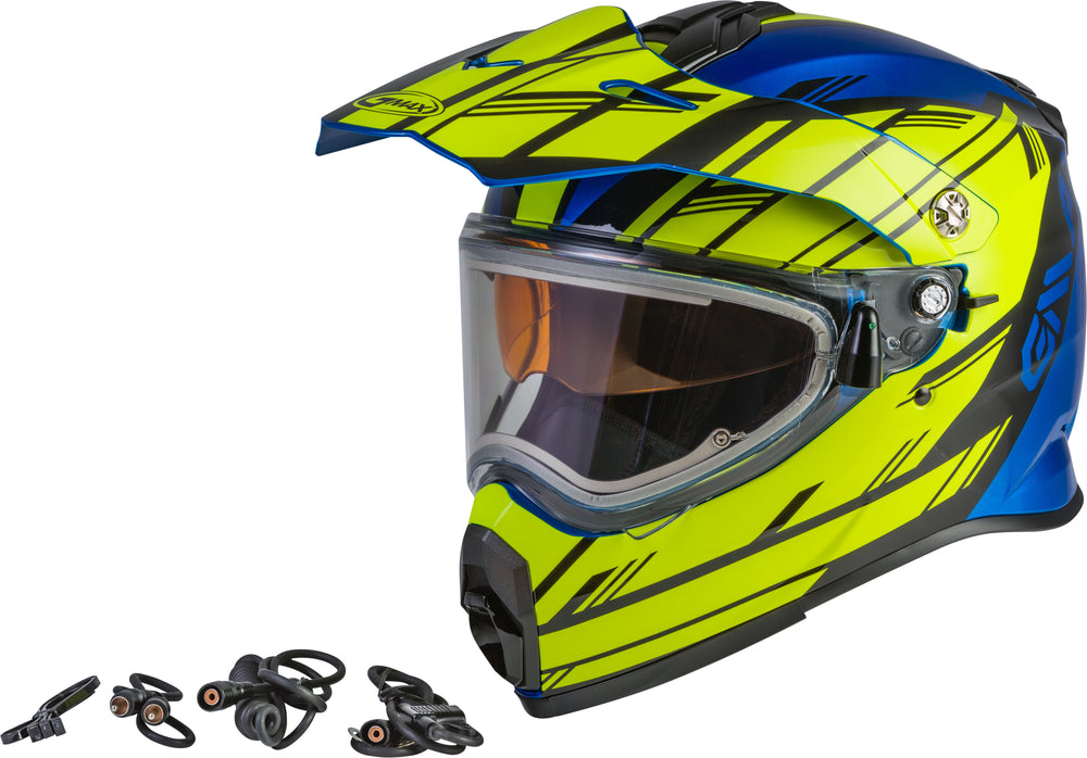 AT-21S EPIC SNOW HELMET W/ELEC SHIELD BLUE/HI-VIS/BLACK 2X