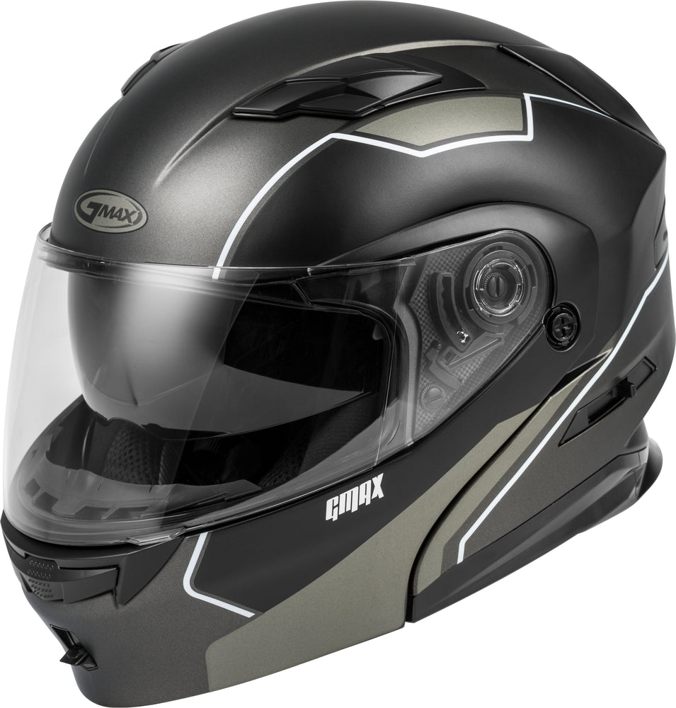 Load image into Gallery viewer, MD-01 MODULAR EXPLOIT HELMET MATTE BLACK/SILVER LG