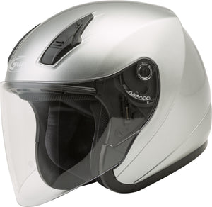 Load image into Gallery viewer, OF-17 OPEN-FACE HELMET DARK SILVER LG