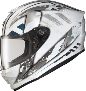 Load image into Gallery viewer, EXO-R420 FULL-FACE HELMET DISTILLER WHITE/SILVER SM