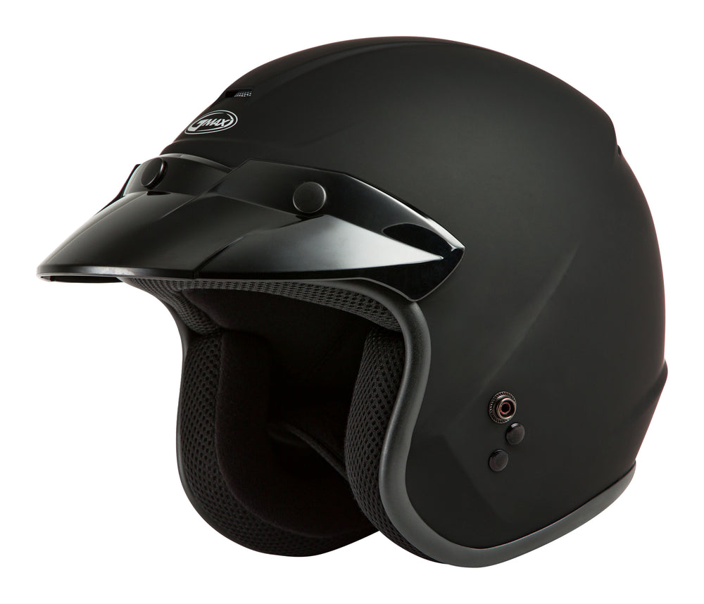 Load image into Gallery viewer, OF-2 OPEN-FACE HELMET MATTE BLACK XS