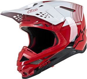 S.TECH M10 DYNO HELMET GLOSS RED/WHITE XL
