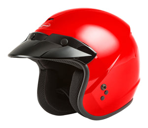 YOUTH OF-2Y OPEN-FACE HELMET RED YS