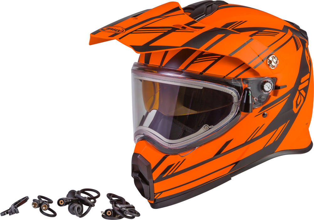 AT-21S EPIC SNOW HELMET W/ELEC SHIELD MATTE NEON ORG/BLACK XS