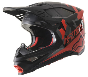 S.TECH S-M8 ECHO HELMET BLACK/GREY/RED FLUO/M&G XS