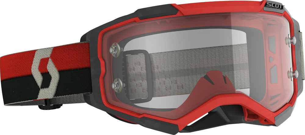 FURY GOGGLE RED/BLACK CLEAR WORKS LENS