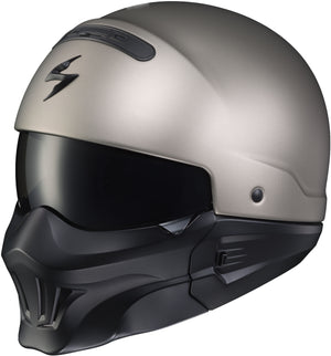 Load image into Gallery viewer, COVERT OPEN-FACE HELMET TITANIUM W/ EVO MASK 3X
