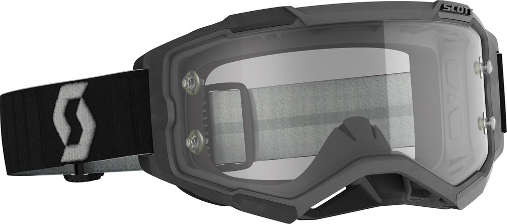 FURY GOGGLE BLACK/GREY CLEAR WORKS LENS
