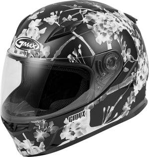 FF-49 FULL-FACE BLOSSOM HELMET MATTE BLACK/WHITE/GREY MD