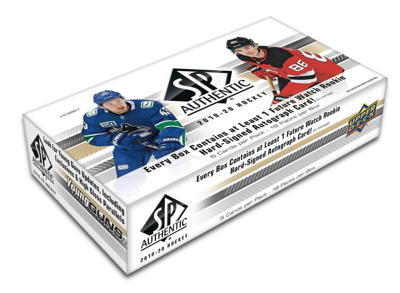 2019-20 Upper Deck SP Authentic Hockey Hobby Box - BigBoi Cards