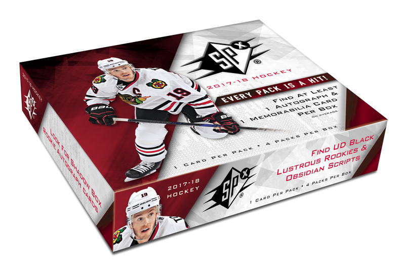 2017-18 Upper Deck SPX Hockey Hobby Box - BigBoi Cards