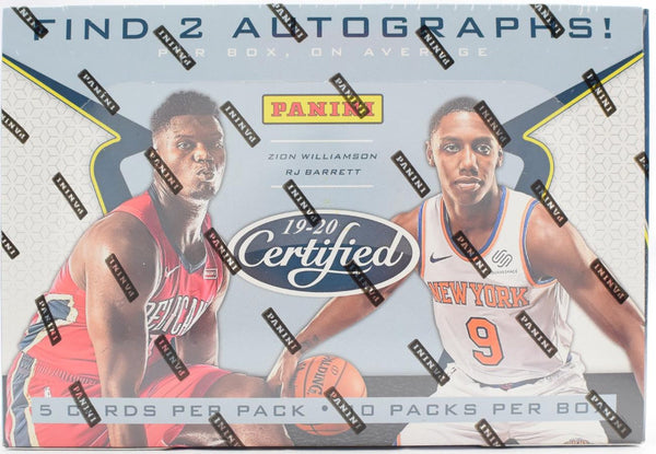 2019-20 Panini Certified Basketball Hobby Box - BigBoi Cards