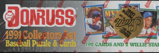 1991 Donruss Baseball Puzzle and Cards Collectors Set