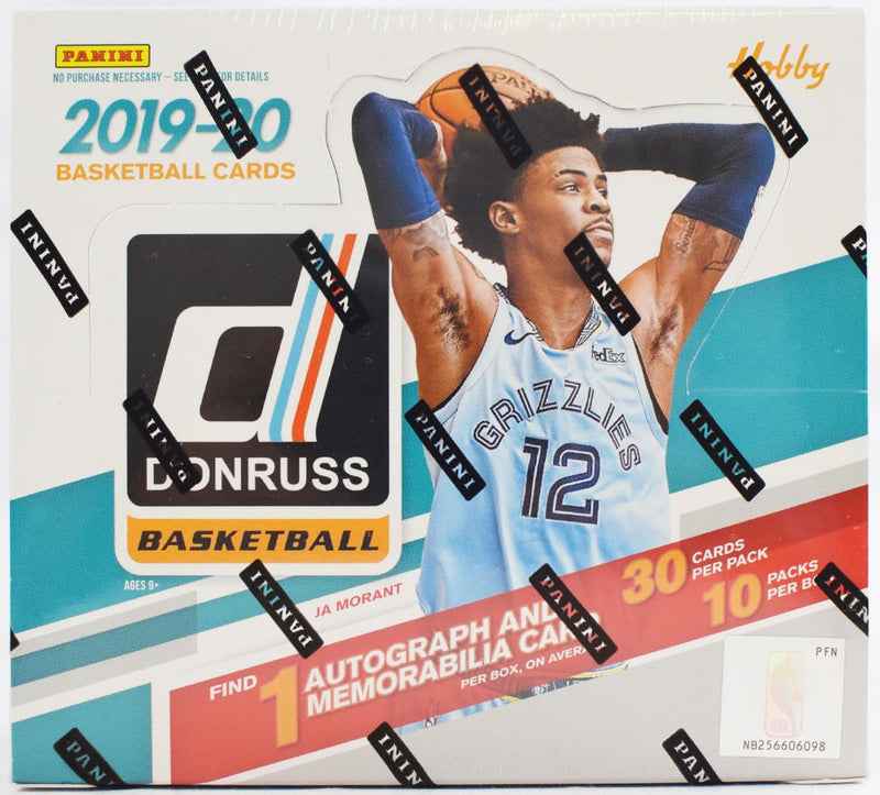 2019-20 Panini Donruss Basketball Hobby Box - BigBoi Cards