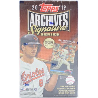 "2019 Topps Archives Signature Series ""Retired Player Edition"" Baseball Hobby Box - Quecan Distribution"