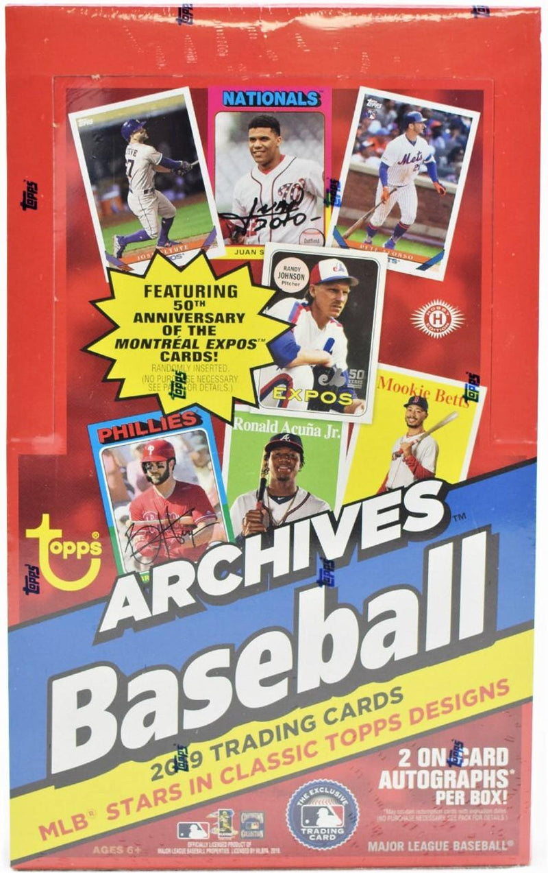 2019 Topps Archives Baseball Hobby Box - BigBoi Cards