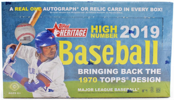 2019 Topps Heritage High Number Baseball Hobby Box - BigBoi Cards