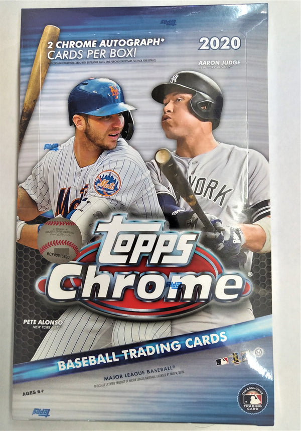 2020 Topps Chrome Baseball Hobby Box
