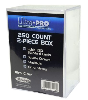 Ultra Pro 2-Piece 250 Count Clear Card Storage Box - Lot of 5 Storage Boxes - BigBoi Cards