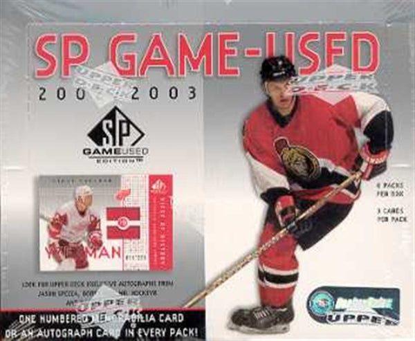 2002-03 Upper Deck SP Game Used Hockey Box