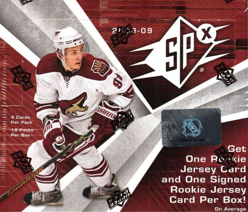 2008-09 Upper Deck SPx NHL Hockey Hobby Box - BigBoi Cards