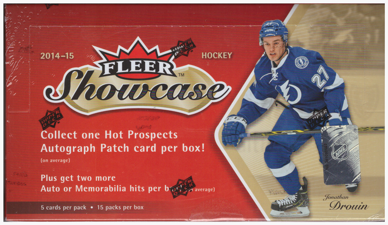 2014-15 Upper Deck Fleer Showcase NHL Hockey Hobby Box