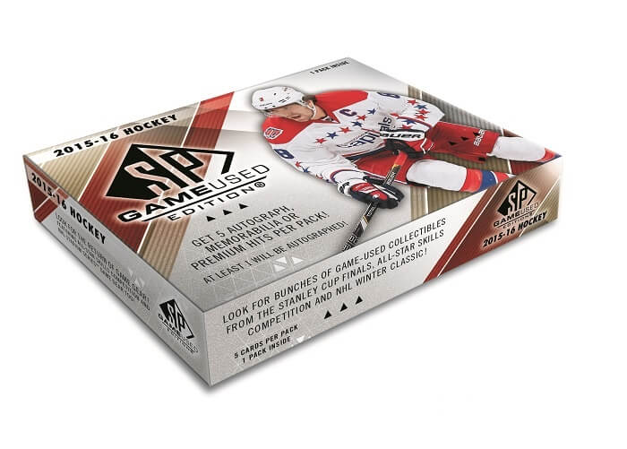 2015-16 Upper Deck SP Game Used NHL Hockey Hobby Box - BigBoi Cards