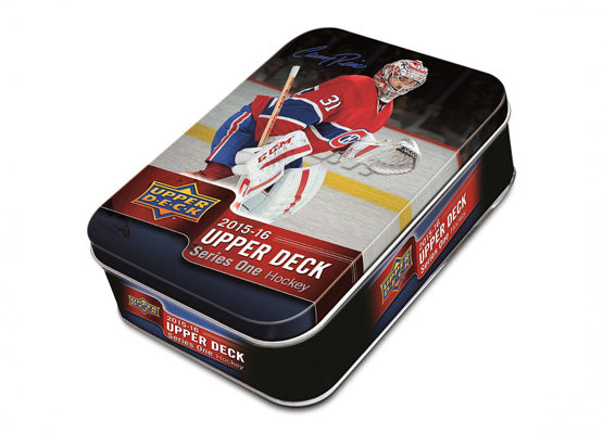 2015-16 Upper Deck Series 1 NHL Hockey Tin Box - BigBoi Cards