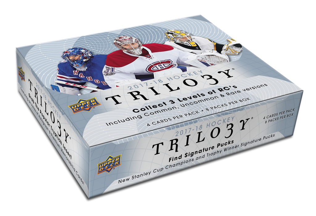 2017-18 Upper Deck Trilogy Hockey Hobby Box - Quecan Distribution