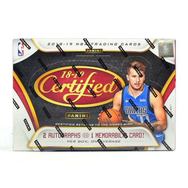 2018-19 Panini Certified Basketball Hobby Box - BigBoi Cards