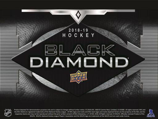 2018-19 Upper Deck Black Diamond Hockey Hobby Box