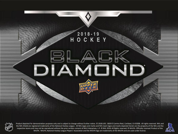 2018-19 Upper Deck Black Diamond Hockey Hobby Box - BigBoi Cards