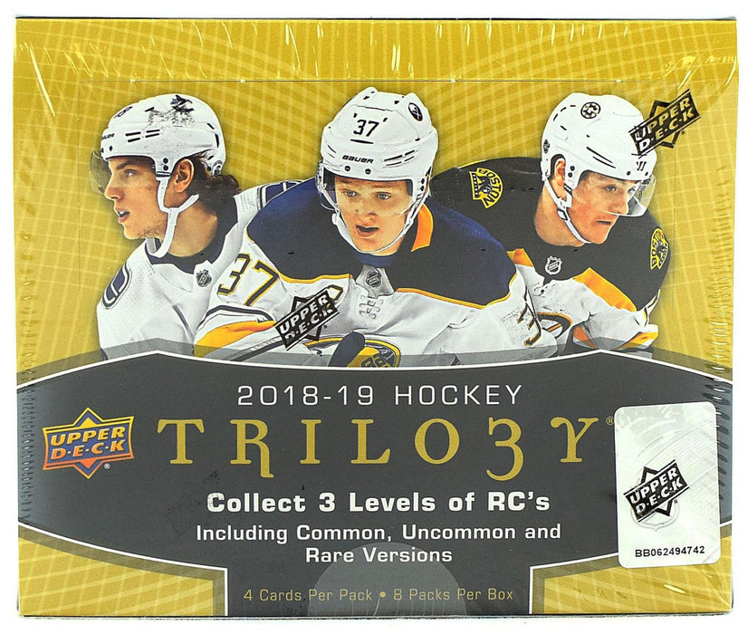 2018-19 Upper Deck Trilogy Hockey Hobby Box ( Case of 10) - Quecan Distribution