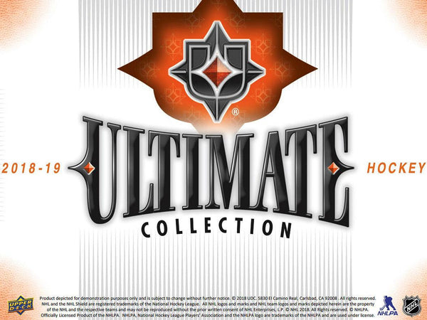 2018-19 Upper Deck Ultimate Collection Hockey Hobby Box ( Case of 8 ) - BigBoi Cards